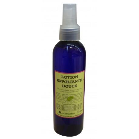 lotion exfoliante aux hydrolats, gel d'aloe vera et acides de fruits