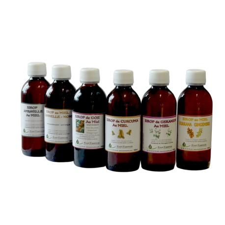 Sirop de plantes au miel Géranium - 160 ml