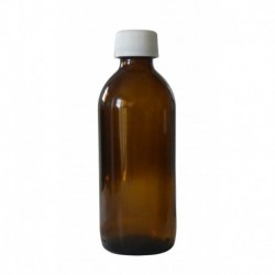 "1 Flacon verre ""SIROP"" 180 ml - bouchon blanc"