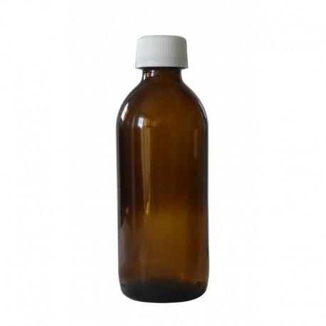 1 Flacon verre brun 160 ml - bouchon blanc