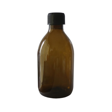 Flacon PET brun 300 ml - Lot de 3