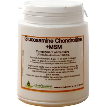 Glucosamine/Chondroitine + MSM 100 gélules