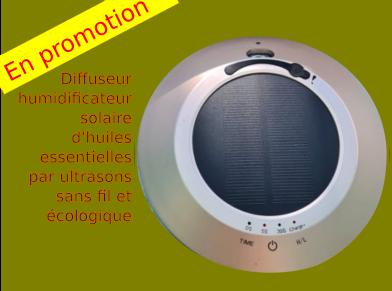 promotion-diffuseur-humidificateur solaire autonome, sans fil et écologique