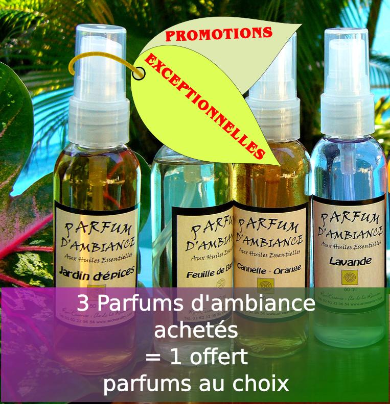 4 parfums d'ambiance pour le prix de 3