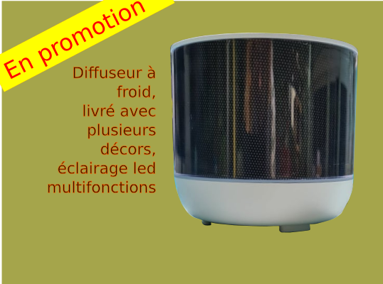Diffuseur à froid d'huiles essentielles personnalisable