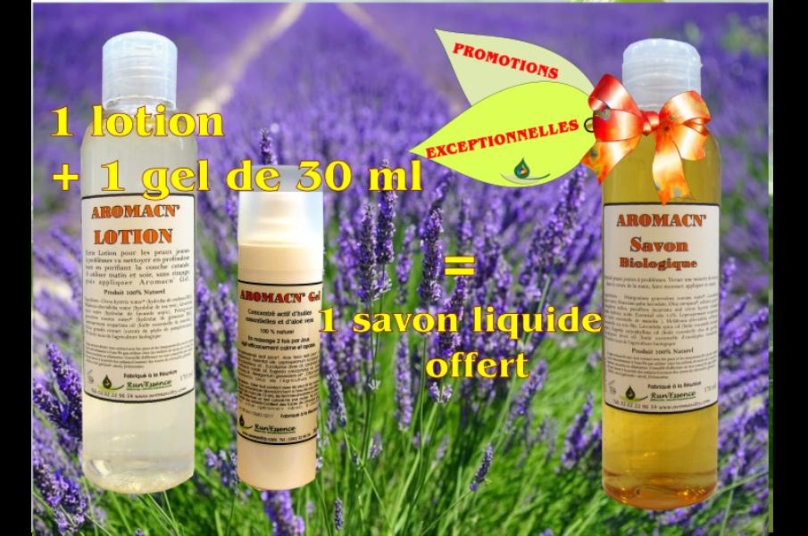 2 produits Aromacné achetés, 1 offert